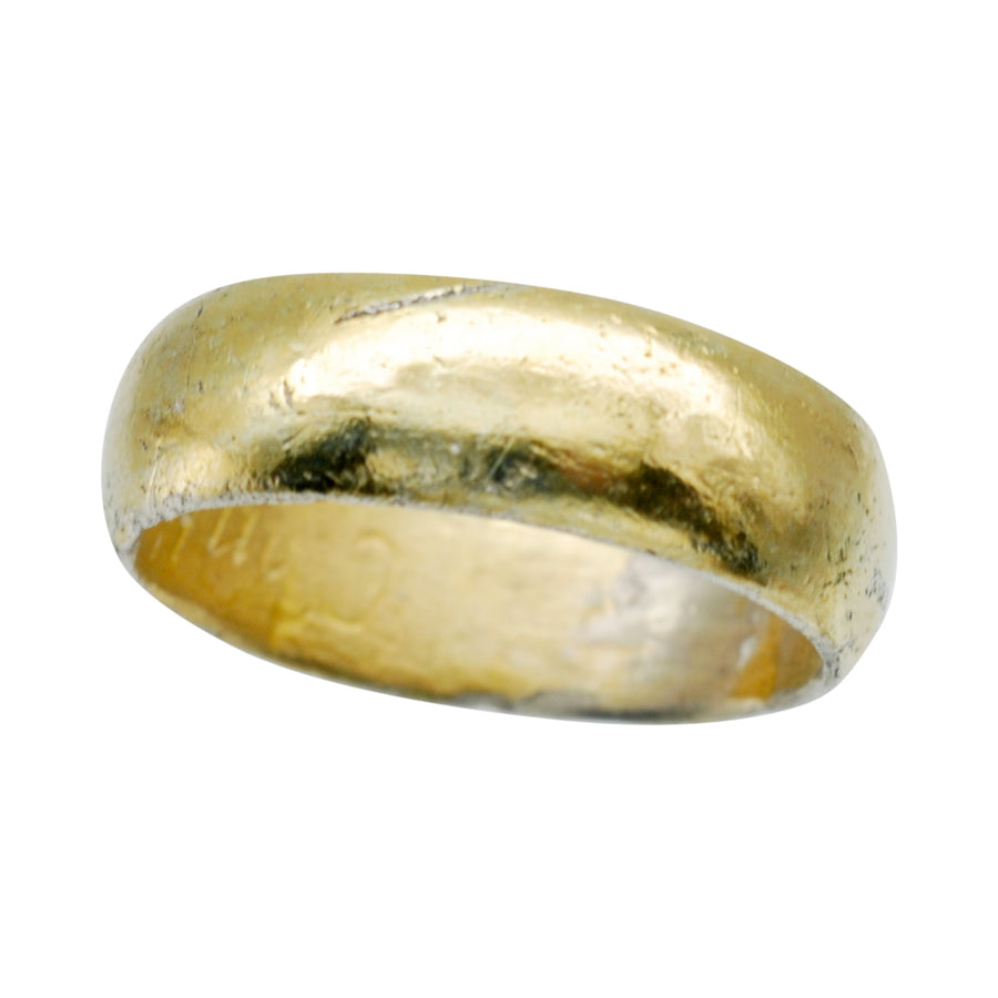 Early Silver and Gold Plated Posy Ring C1690