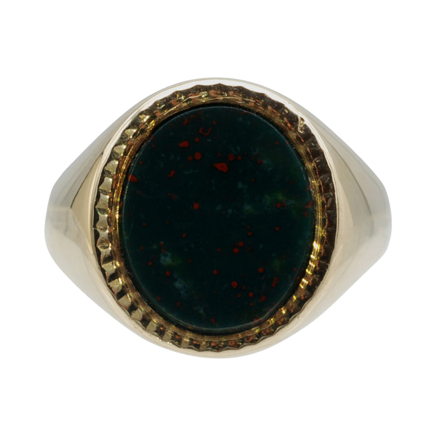 Vintage 9ct Gold Bloodstone Signet Ring