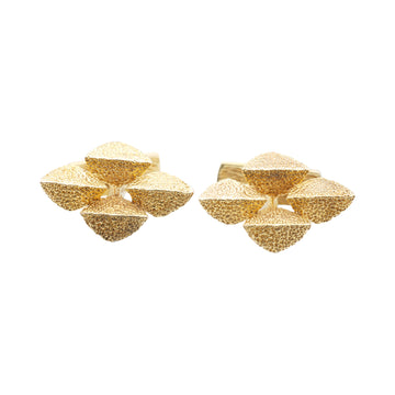 Vintage Modernist 9ct gold cufflinks