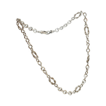 Solid Silver Victorian Fancy Link Chain