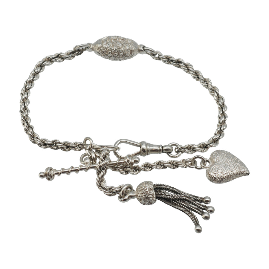 Antique Silver Albertina Bracelet.
