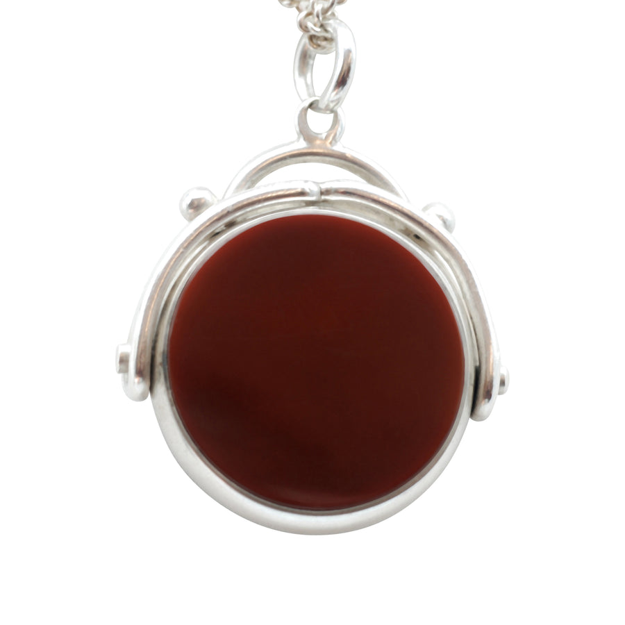 Victorian Silver Bloodstone and Carnelian Swivel Fob.