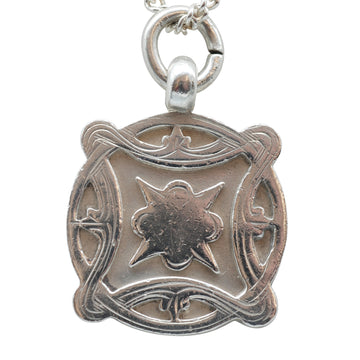 Deco Sterling Silver Fob Medallion.