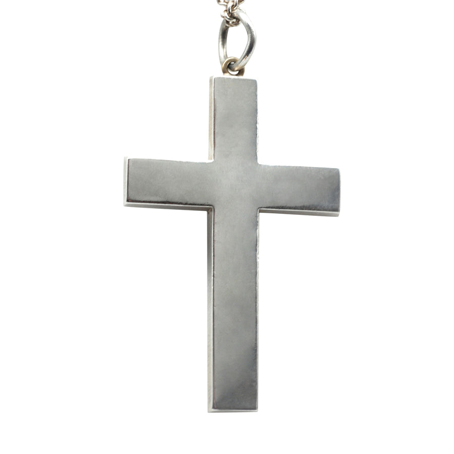 Victorian Scottish Silver and Agate Cross Pendant