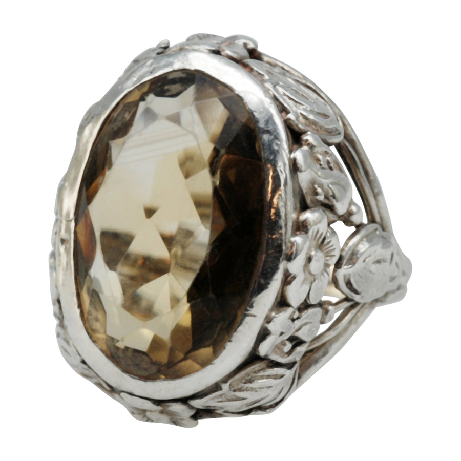 Vintage Silver and Citrine Ring