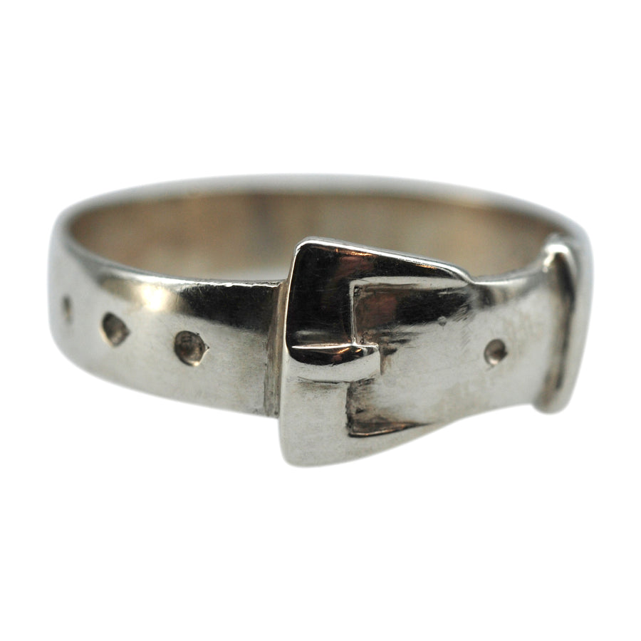 Antique  Silver Buckle Ring