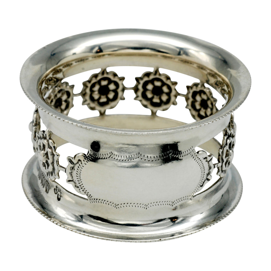 Hallmarked Edwardian Sterling Silver Napkin Ring in Fitted Box.