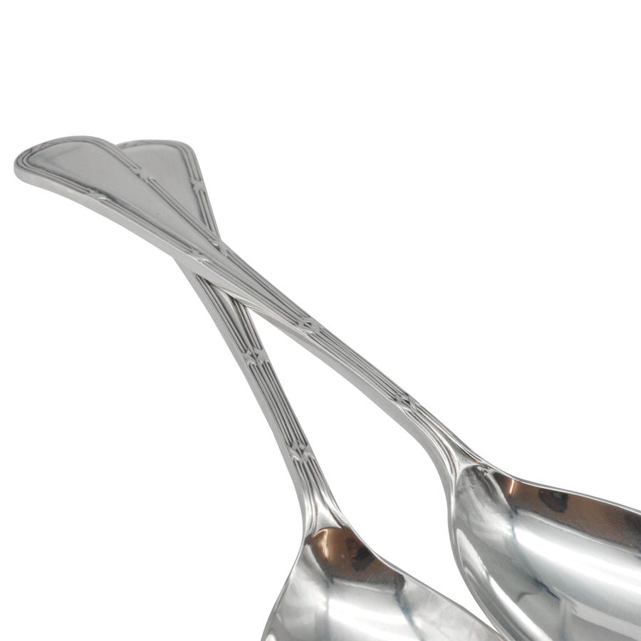 Vintage Sterling Silver Salad Servers - detail front