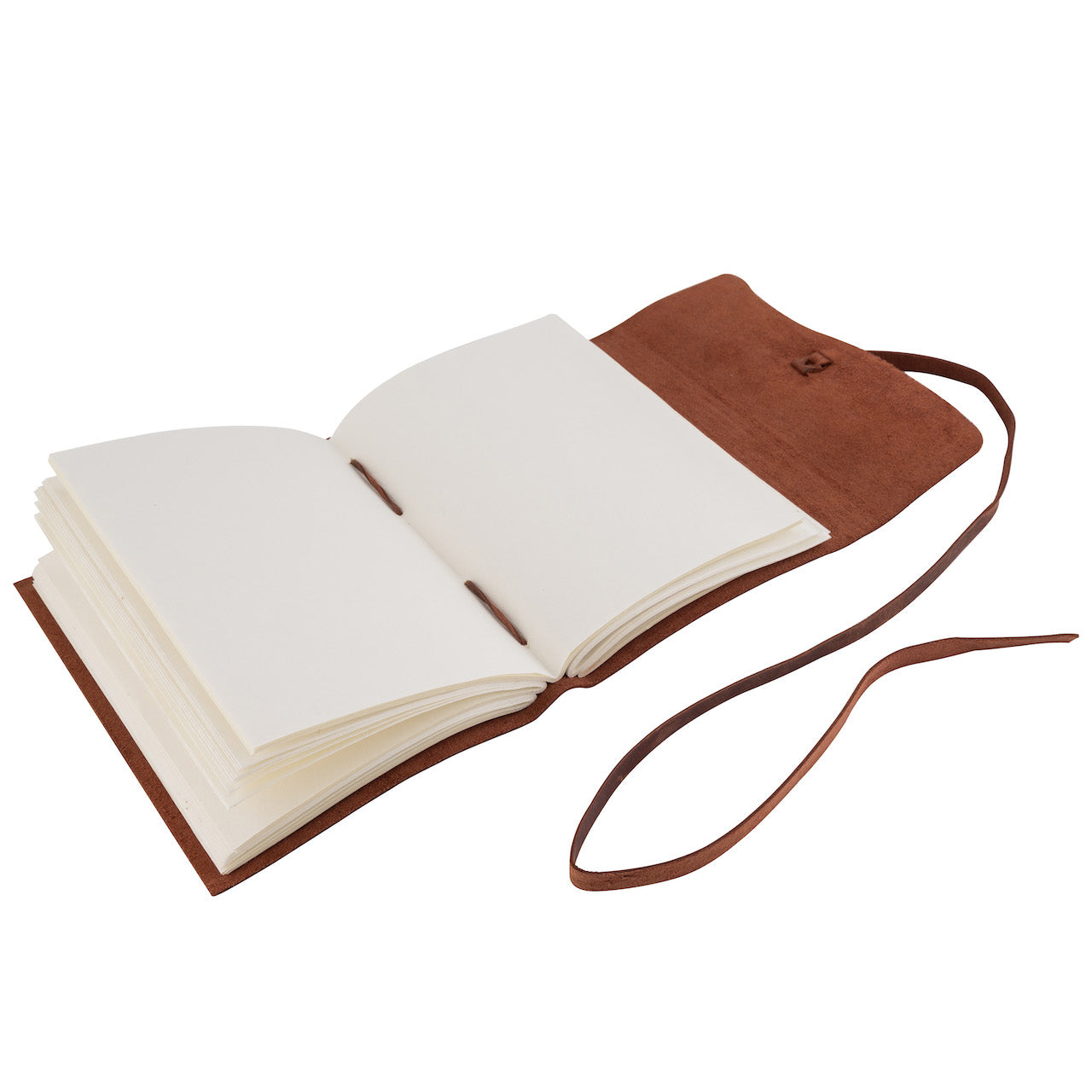 Tuk Tuk Press® Handmade Leather Oil Journal Planner, 200 Thick Unlined Recycled Cotton Pages
