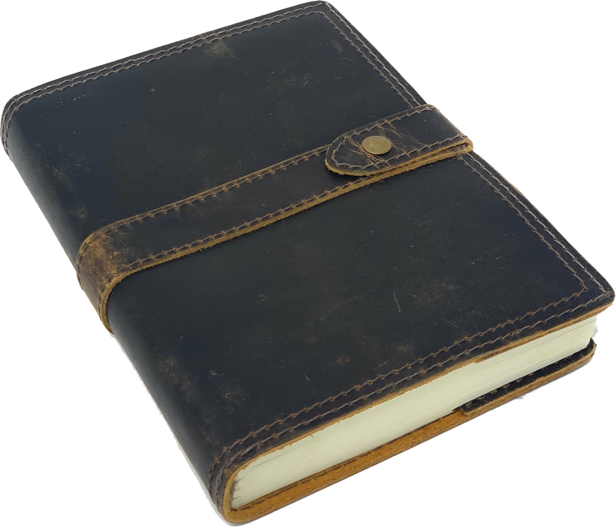 Weathered Leather Journal, Ranger Edition, 200 Blank Cotton Pages