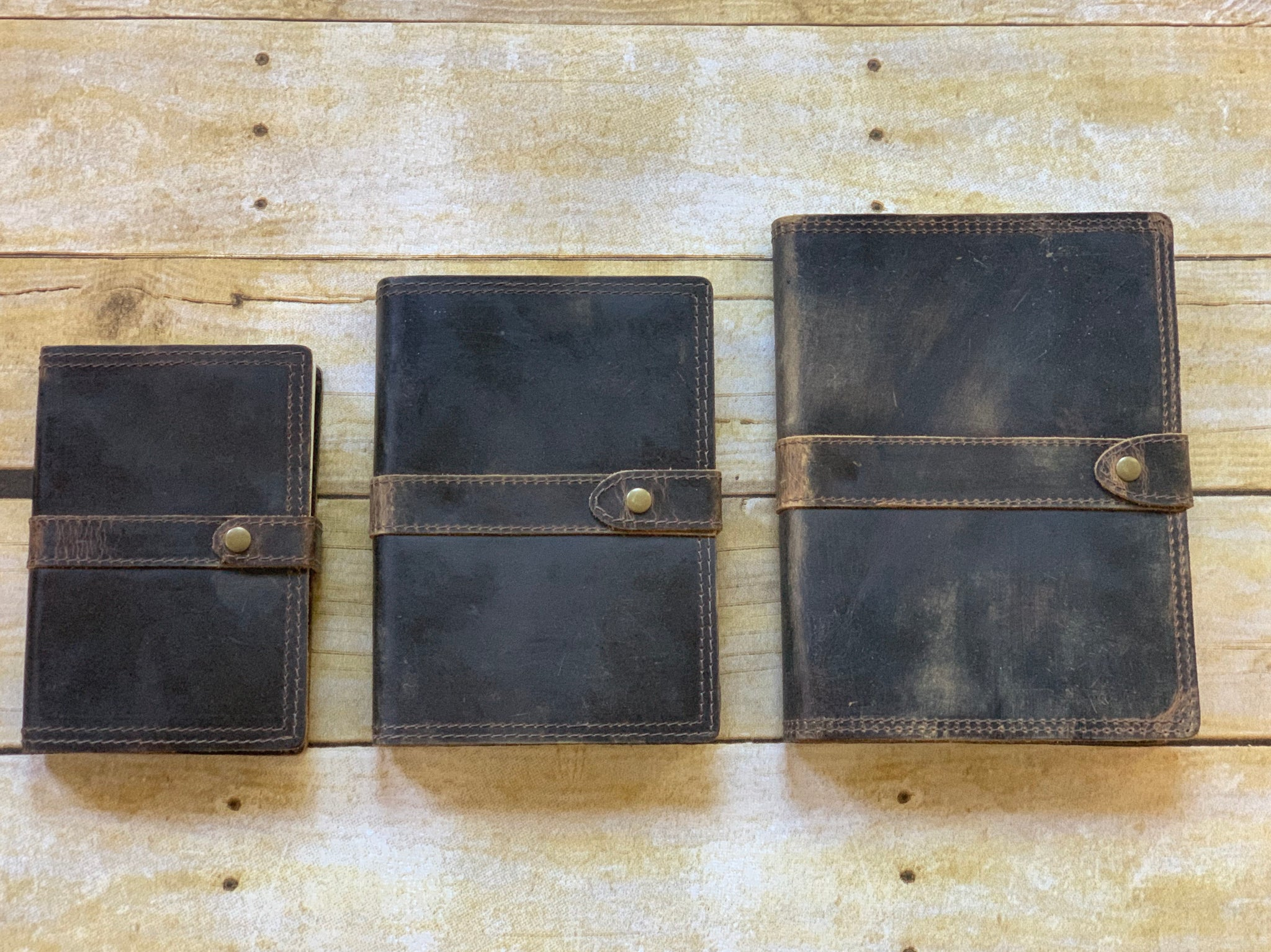 Tuk Tuk Press® Ranger Edition, Weathered Leather Journal, 200 Blank Cotton Pages