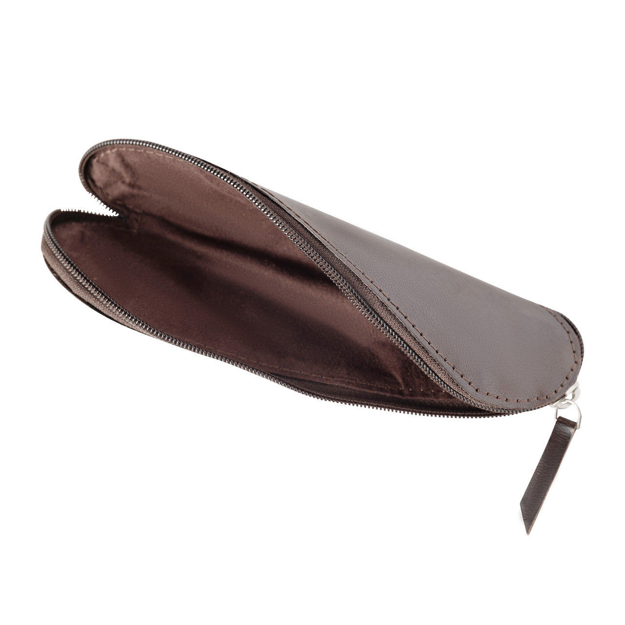 Handmade Leather Twist Pencil Case, 8.5 Inches x 5 Inches
