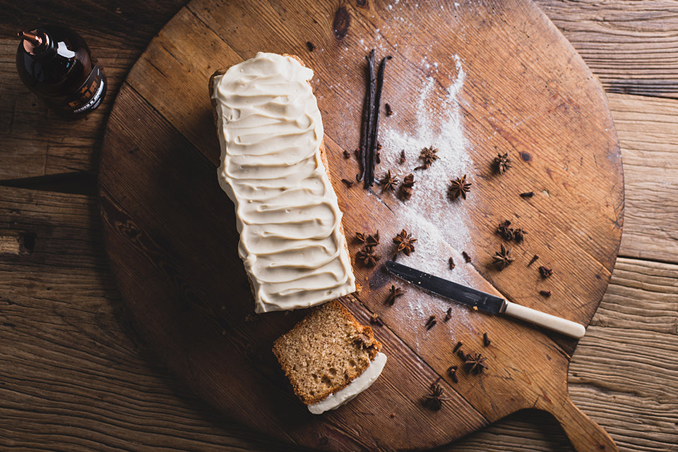Banana Bread with Chai Cream Cheese Frosting