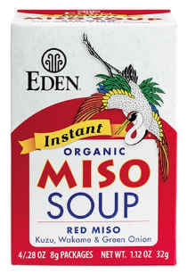 Eden Foods - Instant Red Miso Soup 4-0.28oz