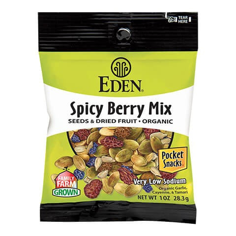 Eden Foods - Spicy Berry Mix Pocket Snacks - 1oz.