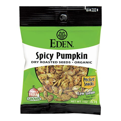 Eden Foods - Spicy Pumpkin Seeds Pocket Snacks - 1oz.
