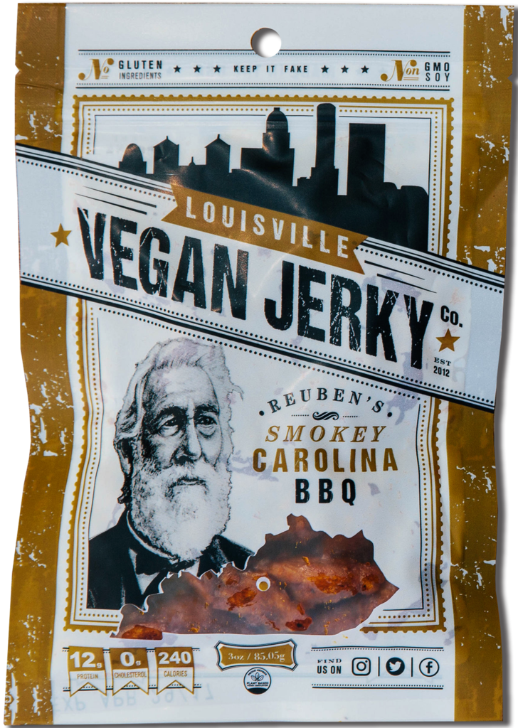 Louisville Vegan Jerky - Smokey Carolina BBQ - 3 oz.