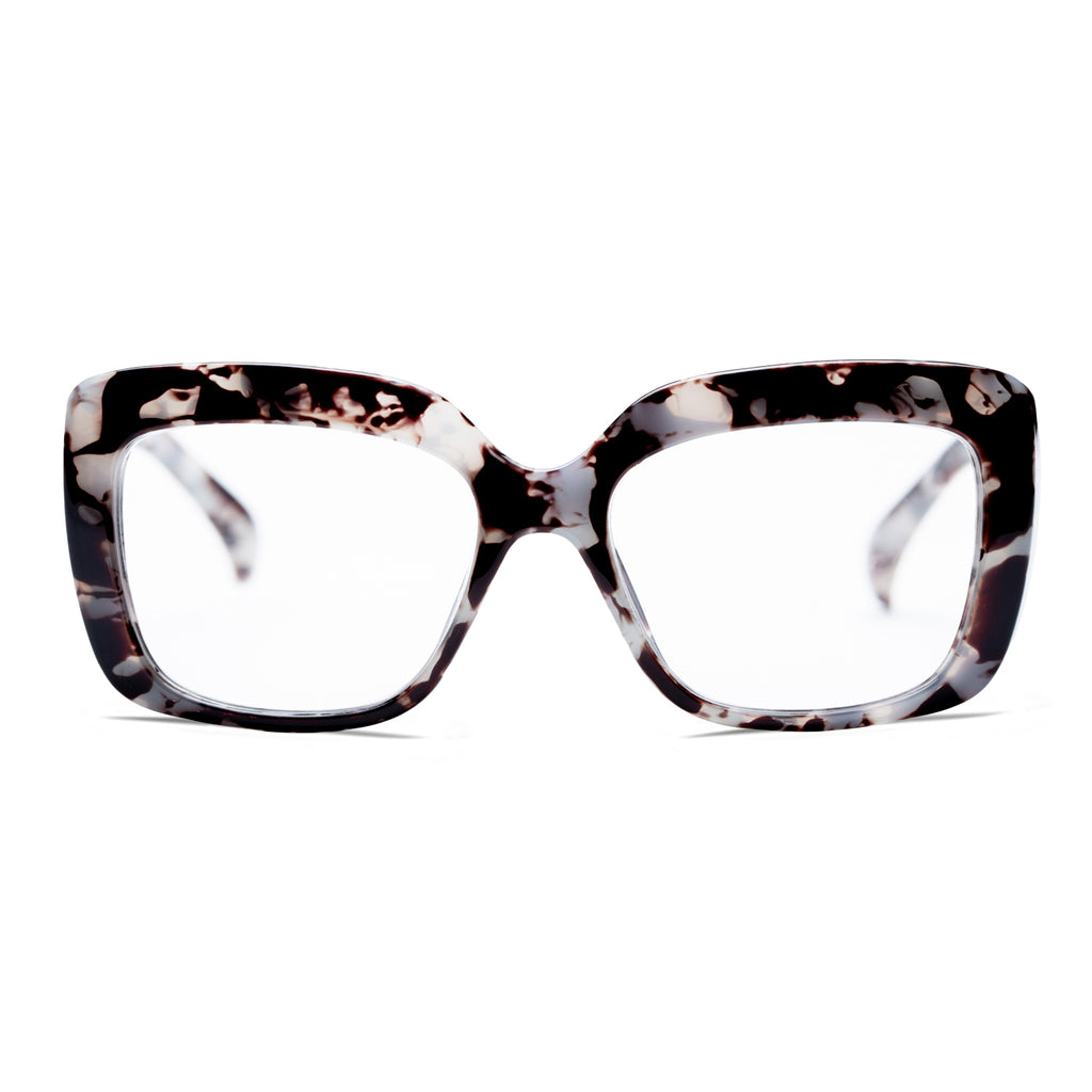 LAUREN | Grey / Black Tortoise