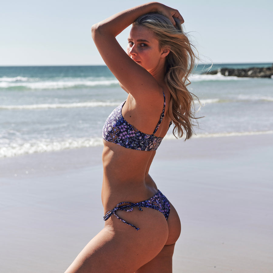 sustainable swimwear australia navy bikini