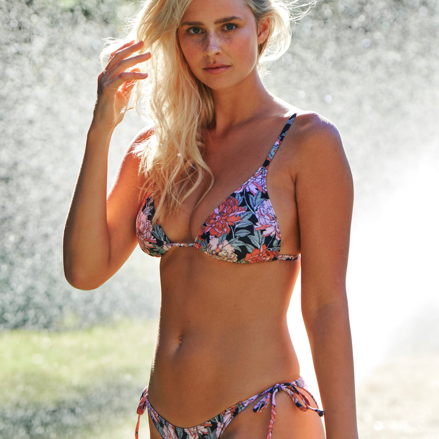 womens black floral swimwear australia
