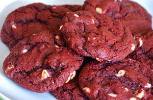 Vegan Red Velvet Chocolate Chip Cookies