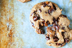Vegan Caramel Stuffed Chocolate Chip Cookies