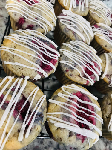 Vegan White Chocolate Raspberry Muffins