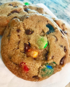 "Vegan Chocolate Chip Cookies with Vegan ""M&Ms"""