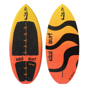 New wake surfer from Idol surf. Top view.
