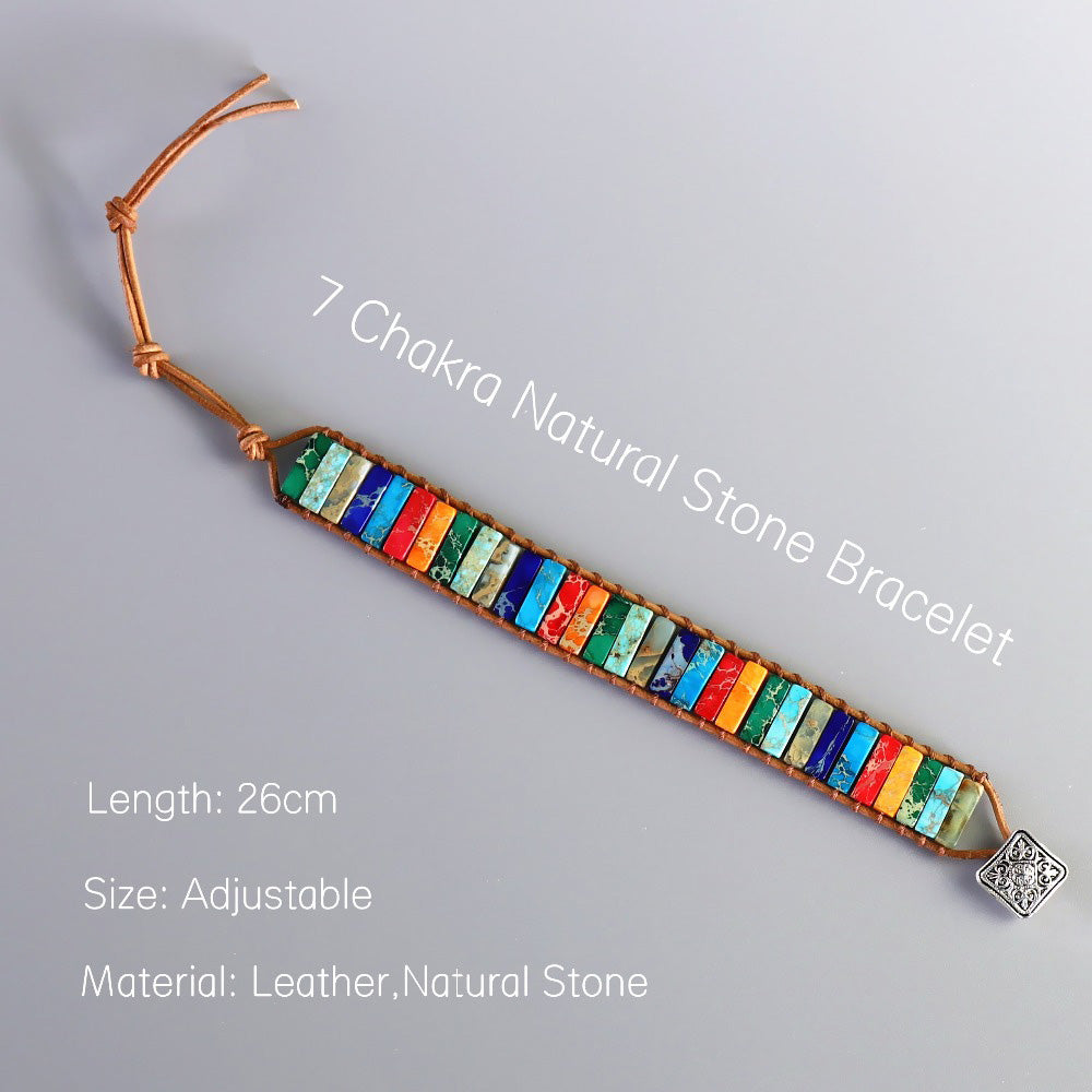 Handmade Colorful Natural Stone Bracelet