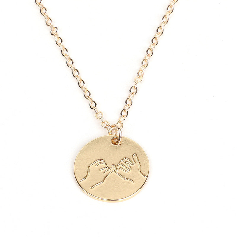 Emoji Coin Necklace for Women Men