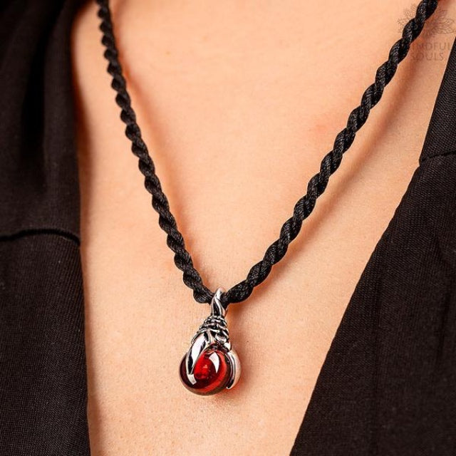 Dragon Claw Garnet Necklace