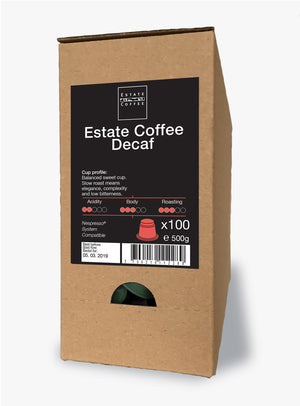 Estate Coffee Decaf, 100 stk kaffekapsler