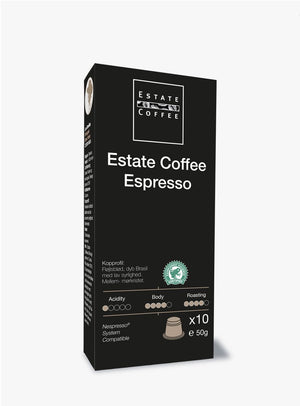 Estate Coffee Espresso, 10 stk kaffekapsler