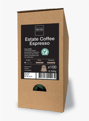 Estate Coffee Espresso, 100 stk kaffekapsler