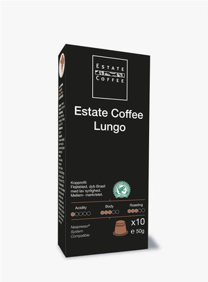 Estate Coffee Lungo, 10 stk kaffekapsler