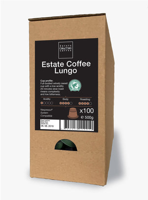 Estate Coffee Lungo, 100 stk kaffekapsler