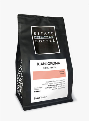 Estate Coffee Kianjokoma Kenya AA Top - 200 gram, hele bønner