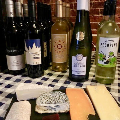 Tutored cheese and wine evening