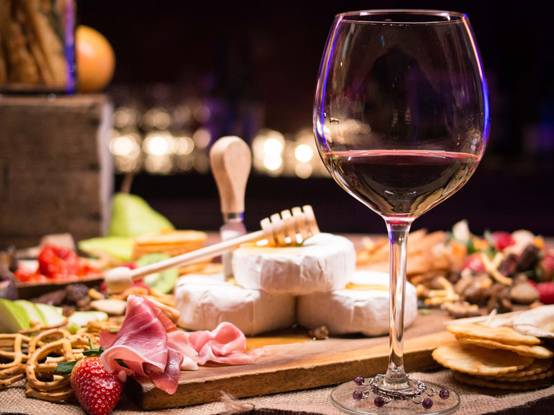 Cheese and wine selection