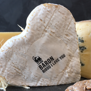 heart shaped Baron Bigod cheese