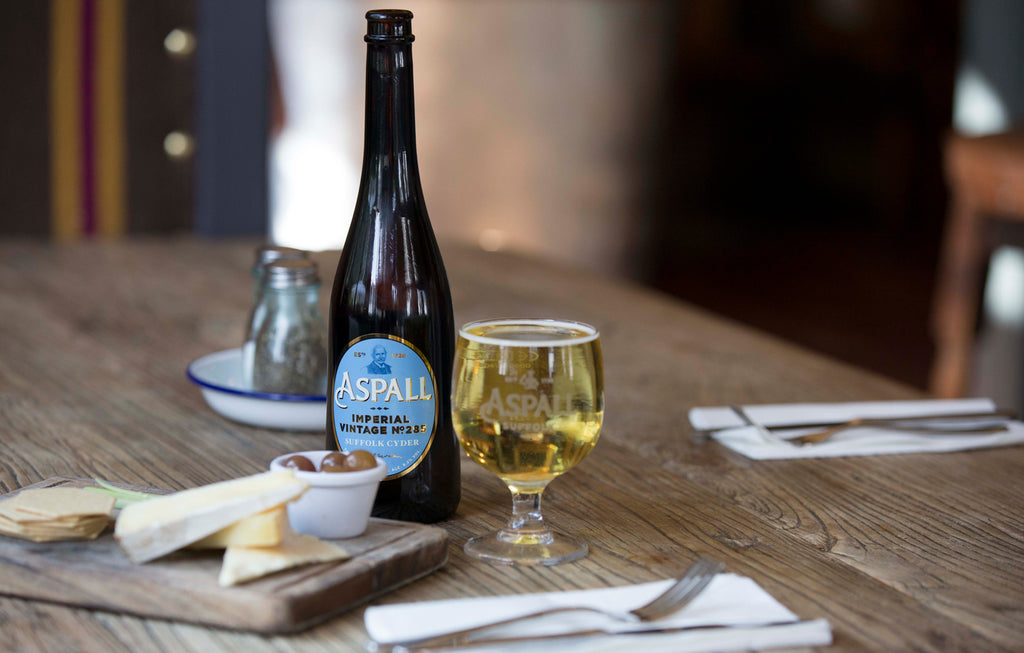 Aspall Cyder with cheese