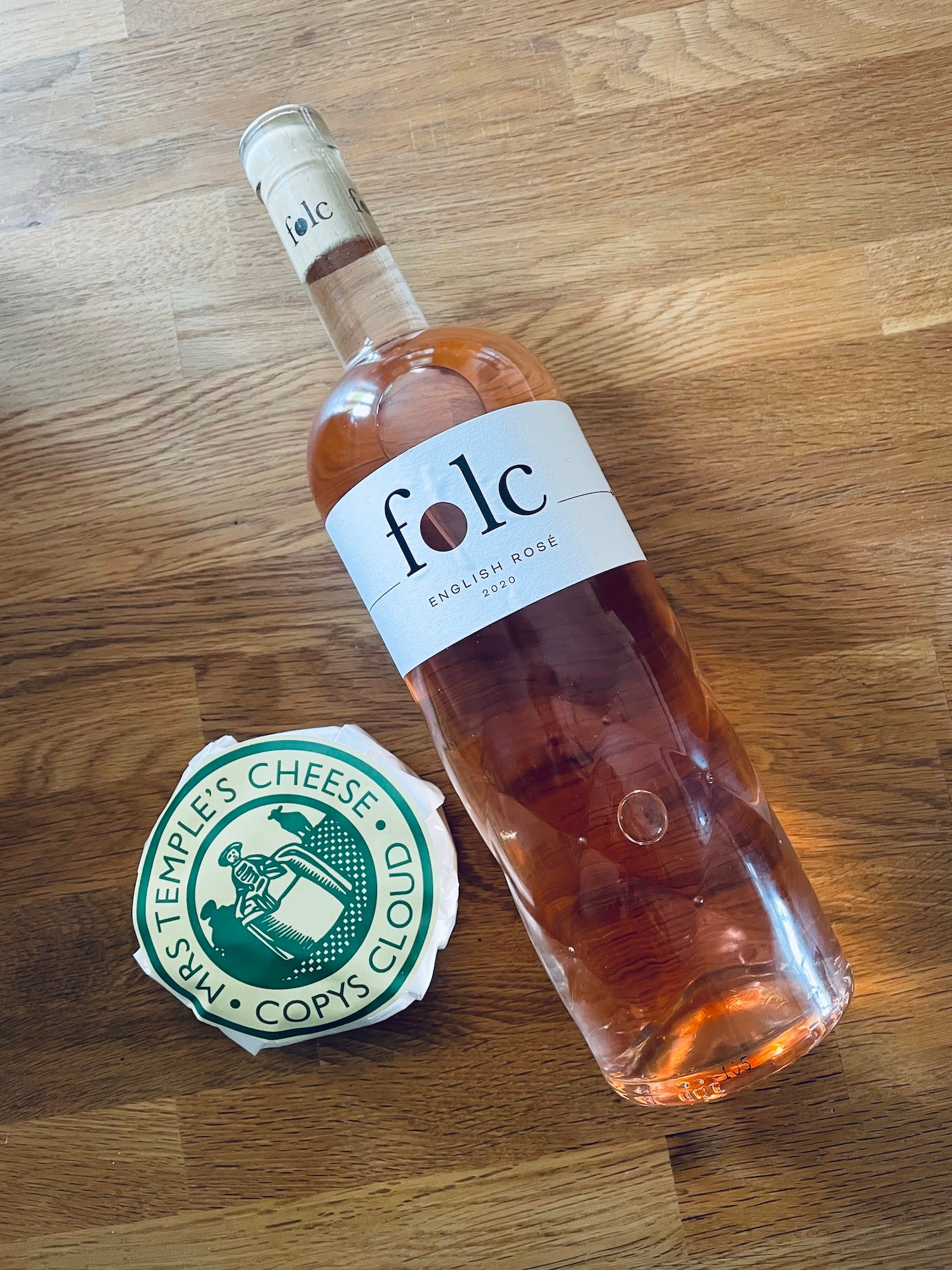 Copys Cloud cheese with Folc English Rosé