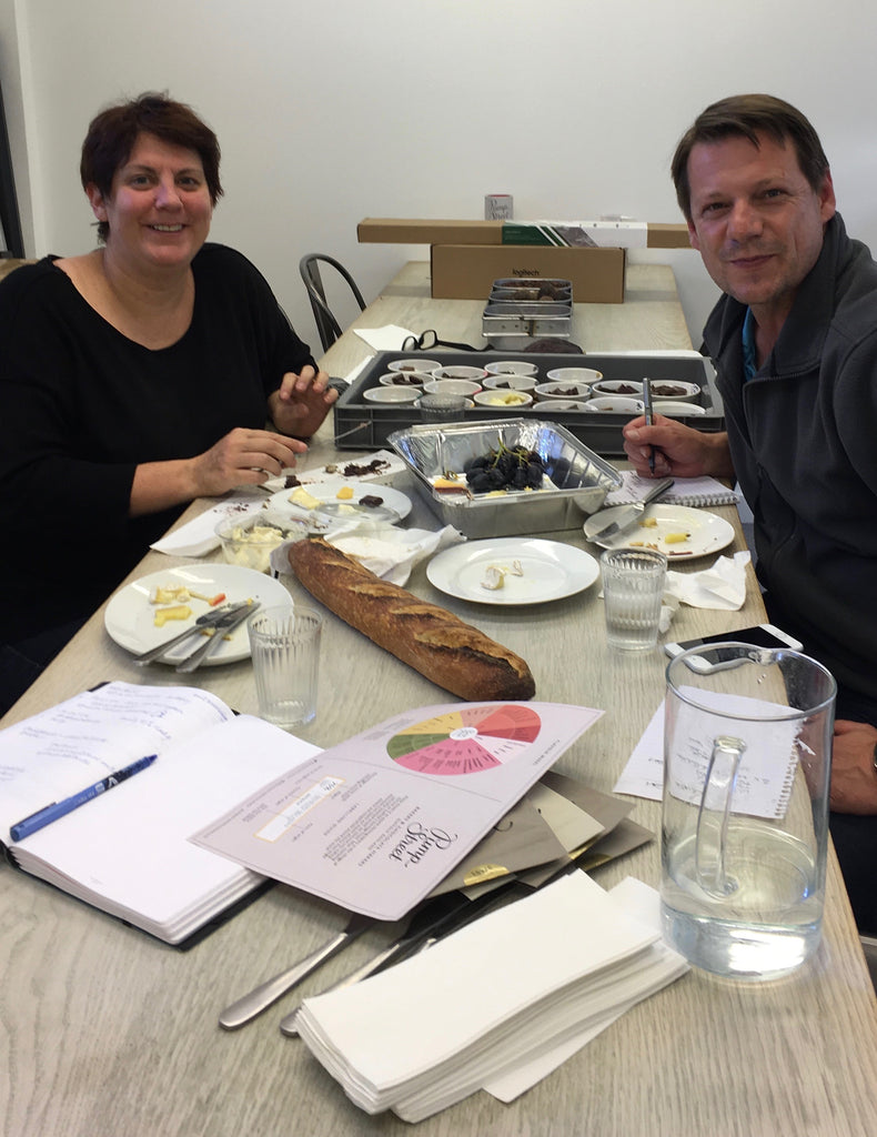 Chocolate and cheese tasting session with Sally