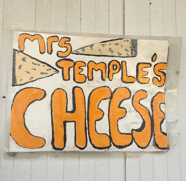 Mrs Temple's Cheese Room Sign