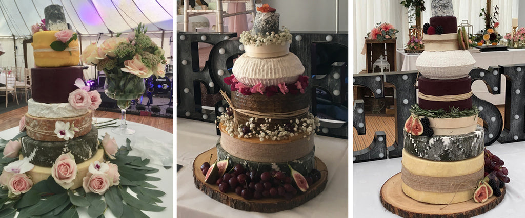 Wedding cheese cake ideas with flowers