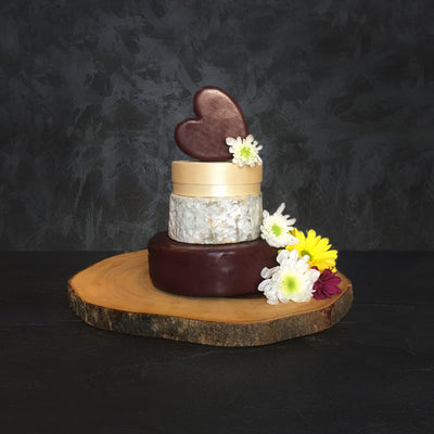 Waveney Mini Cheese Wedding Cake Heart option