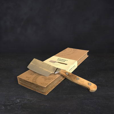 Hard cheese cleaver and box