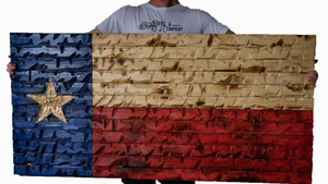 """The GIANT"" Rustic Texas flag"