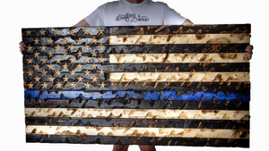 """The GIANT"" Thin Blue Line Flag (Police Awareness)"